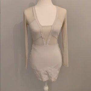 SEXY WHITE MESH DRESS